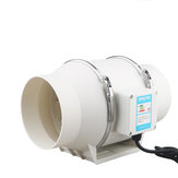 4'' Silent Inline Rotating Duct Fan Booster Exhaust Air Extractor Ventilation Fan Exhaust Fan