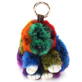 Cute Fluffy Multicolored Soft Rabbit Keyring Bag Pendant Interesting Ornaments Doll