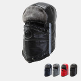 Men's Faux Leather Warm And Windproof Outdoor Hat