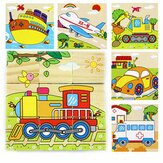 Children Cartoon Puzzle Blocks Colorful Educational Wooden Kids Toys