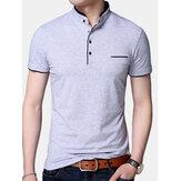 Magliette casual a maniche corte in puro colore moda uomo