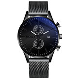 SOXY 0163 Mesh Steel Decorative Men Dial Relógio de pulso