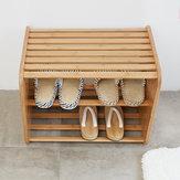 CHENGSHE Eenvoudige bamboe massief houten schoenenrek Rekken bank van