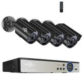 Hiseeu 8CH 5MP AHD DVR 4 STKS CCTV Camera Beveiligingssysteem Kit Outdoor Waterdichte Video Surveillance 3.6mm Lens