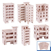 Sand Table Model Material Apartment Building Model Wood House Model Customizable Architecture Model Handmade Set