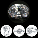 HUGE Unheated 56.66ct VVS White Sapphire 18X25mm Oval Cut AAAA Loose Jewelry Set
