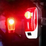 XANES® TL35 120LM Luz traseira de bicicleta 5 modos USB recarregável LED Lâmpada de aviso noturno