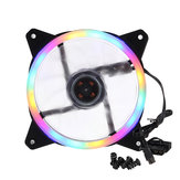 120mm PC Case Fan Computer Ultra Silent Rainbow Lights Cooler Cooling Heatsink