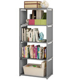 Simple Bookshelf Storage Cabinet Bookcase 5 Tier Shelf Display DVD CD Furniture Storage Shelving Unit for Student