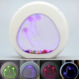 Réservoir de poissons d'aquarium Jellyfish rougeoyant LED 7 couleurs claires Home Desktop Decor
