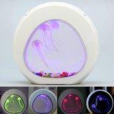 Serbatoio di pesci d'acquario Meduse incandescenti LED Decorazioni per desktop domestico a 7 colori chiari