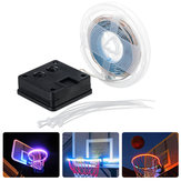 1M Solar Powered Impermeable 8 modos IP67 RGB White 30LED Baloncesto Luz de tira de llanta para al aire libre Uso