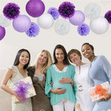 Birthday Party Wedding Decorations 15Pcs/Set Paper Flower Balls Poms Paper Honeycomb Balls Paper Lanterns