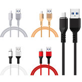 5V 2A Micro USB Fast Charging TPE Data Cable For Smartphone Tablet