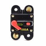Chave do carro Reinicialização manual Porta-fusível Disjuntor 12V 100/150 / 200A Interruptor para carro SUV Barco Bateria Interruptor de reinicialização manual