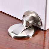 Heavy Duty Zinc Alloy Magnetic Door Stopper Hidden Floor Mount Door Catch Free Punching Door Holder w/ 3M Sticker
