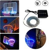 Solar Powered 8 Modos Flash 1M SMD2835 IP67 30LED Luz de tira do tubo para cesta de basquete