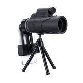 50x60 HD Smart Zoom Optical Telescope Monocular with Illumination Laser +Tripod+Mobile Phone Clip