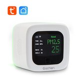 Smart WiFi PM2.5 And Temperature And Humidity Sensor Environmental Detector Air Quality Monitor (Tuya Smart Life APP)