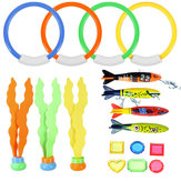 17Pcs Underwater Swimming Diving Pool Toys Kids Fun Dive Training Toy