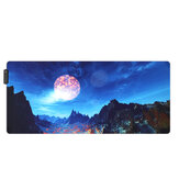 A Montanha de Neve USB Com Fio RGB Colorful Backlit LED Mouse Pad para Gaming Mouse