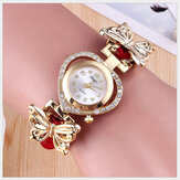 Deffrun Love Heart Decorative Ladies Bracelet Watch