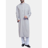 INCERUN Mens Middle East Arabian Robe Oberteile Halboffener Kaftan