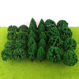 30/50Pcs Mini Green Trees Architecture Micro Landscape Scenery Railway Model Decorations