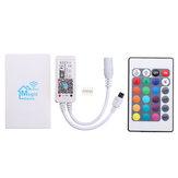 DC9-12V Mini WiFi RGBW LED Strip Controller + 24 toetsen IR Afstandsbediening Werken met Alexa Google Home