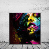 Miico Hand Painted Oil Paintings Abstract Colorful Girl Wall Art For Home Decoration Painting