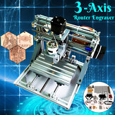 1610 DIY Mini 3-Axis CNC Router Engraver Laser Engraving MachinePCB PVC Milling Wood Carving Machine