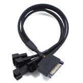 SATA na 3-pinowy 4-pinowy zasilacz wentylatora SATA na 4-drożny przedłużacz 24AWG do komputera Przewód o przekroju 27 cm Przewód zasilający z PCV Przewód zasilający SATA