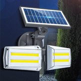 12W regolabile doppia testa 80 COB solare applique da parete all'aperto LED sensore radar impermeabile sicurezza paesaggio lampada