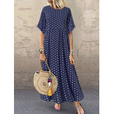 Polka Dot Print Maxi Dress
