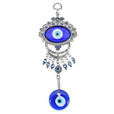 Turkish Oval Blue Evil Eye Amulet Wall Hanging Car Decor Blessing Protector Decorations