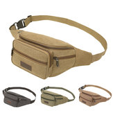 Mens Canvas Waist Fanny Pack Military Travel Hiking Belt Bag Functional Waist Bag