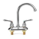 現代のクロム冷たいお湯ダブルシンクミキサータップ浴室キッチン洗面台の蛇口