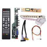 T.V53.03 Universal LCD LED TV Controller Driver Board TV TV / الكمبيوتر/VGA/HDMI / USB + 7 Key Button + 2ch 6bit 30pins LVDS Cable + 1 Lamp Inverter