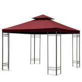 3x3m 10FT Double Tier Gazebo Replacement Top Canopy Garden Patio Pavilion Tent Sunshade Cover