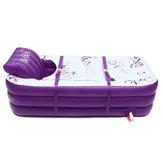 2 en 1 165 * 85 * 45 cm inflable adulto PVC baño caliente bañera plegable interior SPA Cuarto de baño bañera