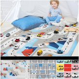 Parent-Child Play Indoor Outdoor Kid's Traffic Parking Lot Car Map Rug Nordic Portable Game Mat Baby Room Carpet