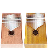 GUISTAR 17 Keys Mahogany Acacia Wood Kalimbas Thumb Finger Piano with Bag Set