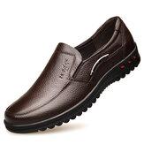 Erkek Kaymaz Günlük Deri Ayakkabı