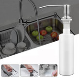 300ml Stainless Steel Sink-Mounted Liquid Soap Dispenser Dapur Kamar Mandi Botol
