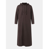 Mens Vintage Long Tunic Style Shirts Loose Cotton Kaftan Dress Tops