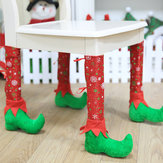 1Pc Christmas Restaurant Table Chair Foot Cover Stools Feet Cover Decorations