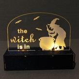 Loskii JM01507 1 piezas Decoración de Halloween LED Lámpara Vela con LED Té Velas ligeras para decoraciones de Halloween