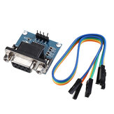 DC5V MAX3232 MAX232 RS232 To TTL Serial Communication Converter Module With Jumper Cable Geekcreit for Arduino - products that work with official Arduino boards