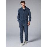 Erkek Modası Kadife Pantolon Çift Cepler Gözenek Rengi Günlük Tulum
