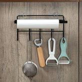 Kitchen Tissue Storage Holder Towel Rack Hook Holder Bathroom Shelf Hanging
